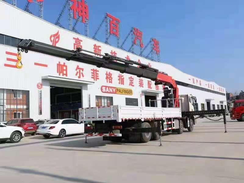 国六解放J6P前四后八38吨折臂随车吊,38吨大尾吊图片五
