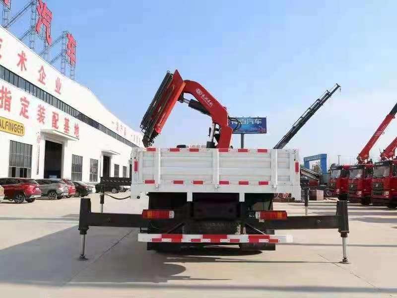 国六解放J6P前四后八38吨折臂随车吊,38吨大尾吊图片六