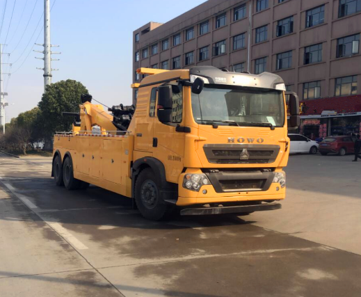国六重汽豪沃20吨联体一拖一清障车