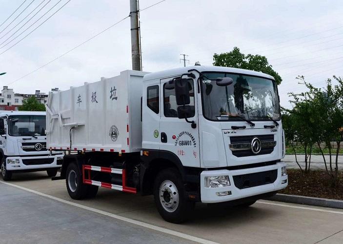 东风多利卡D9压缩式对接垃圾车