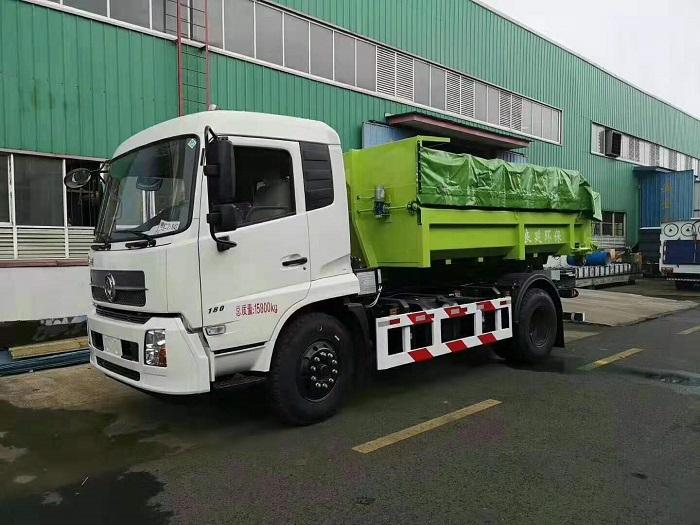 东风天锦套臂垃圾车,载重16吨,建筑垃圾专用视频