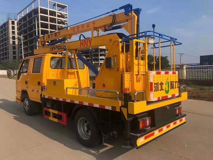 江铃双排12米蓝牌国六高空作业车