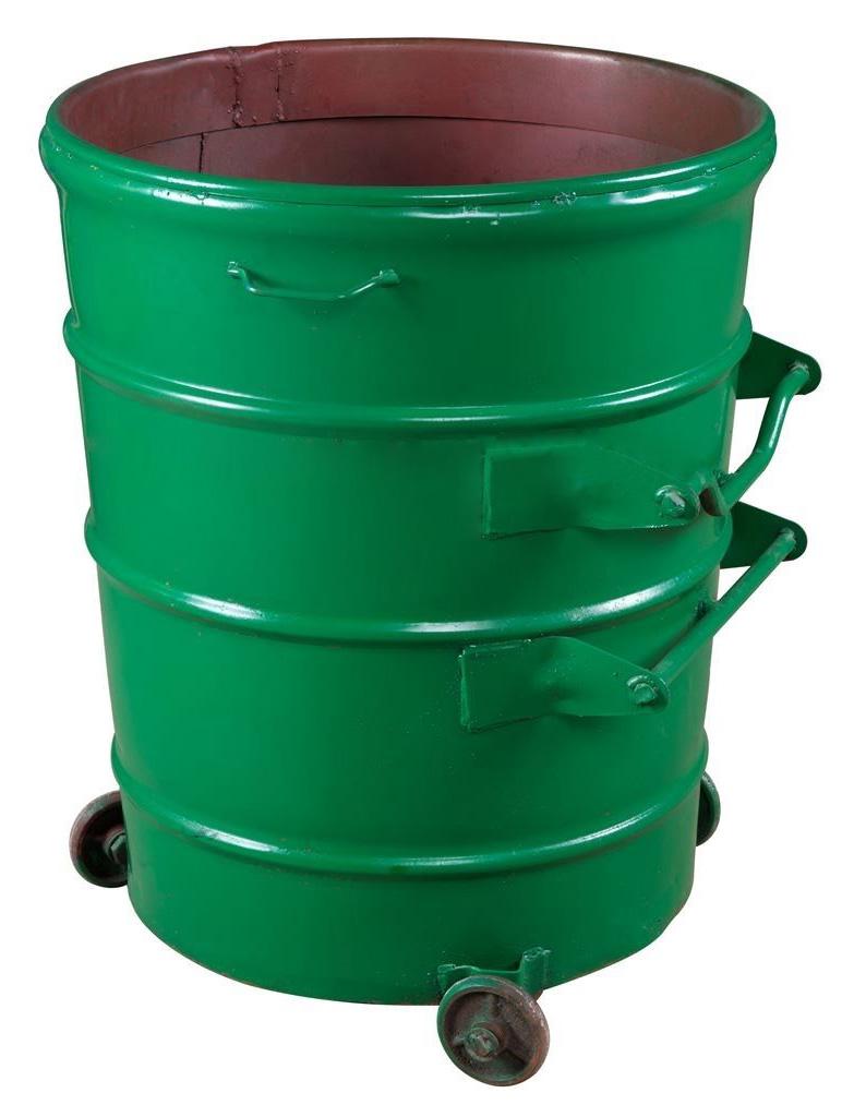 240L铁垃圾桶(圆形可与垃圾车配套)