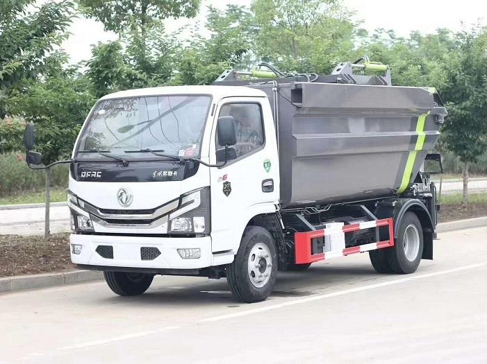 国六东风多利卡7方高位无泄露自装卸压缩垃圾车图片