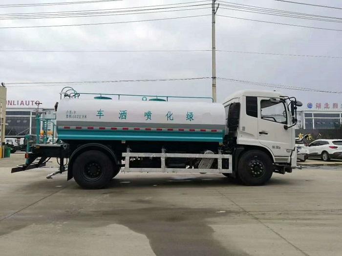 东风国六天锦12方高端洒水车带40米电子水炮